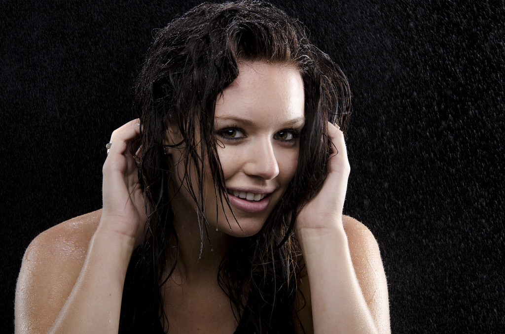 Olivia Wet Hair Smile