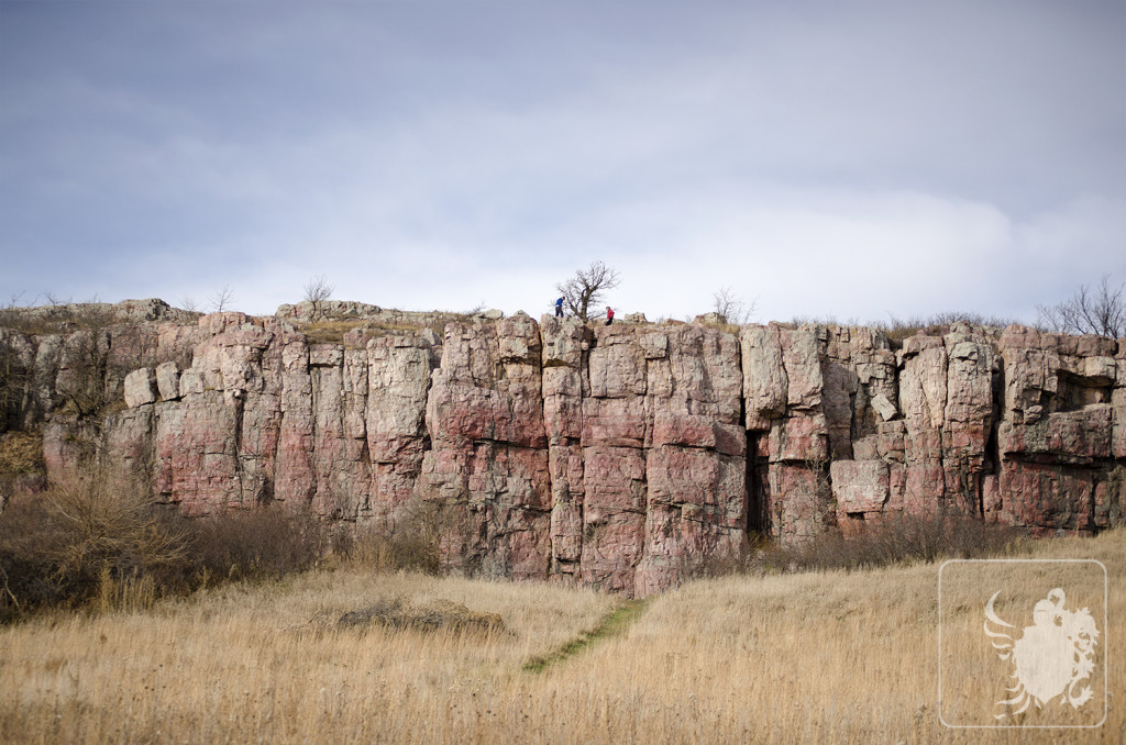 Climbing at Blue Mounds State Park