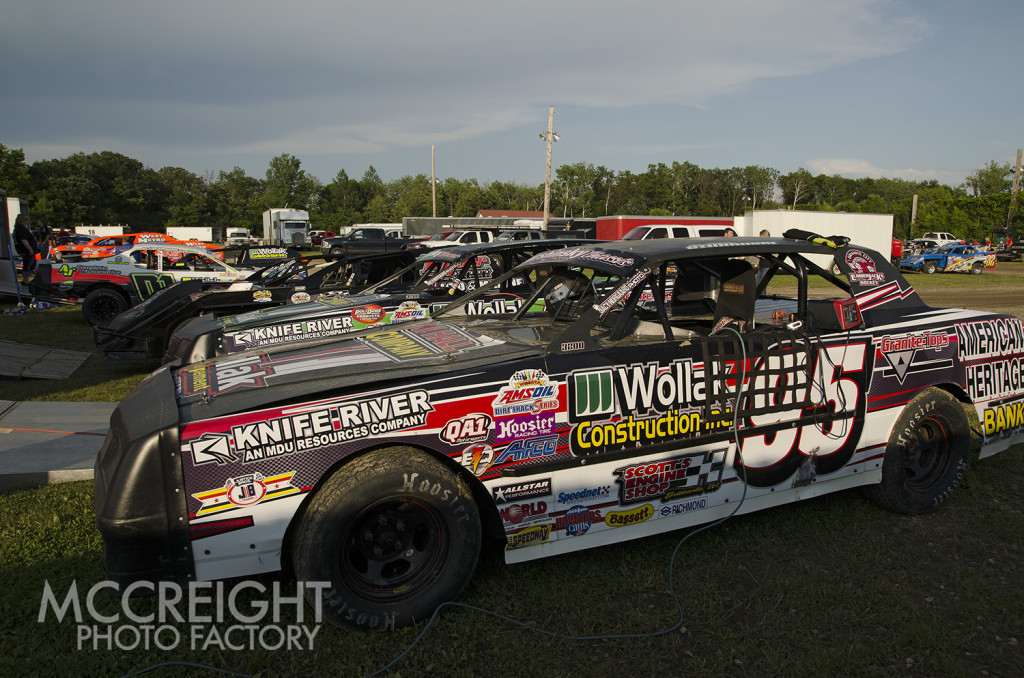 Christina Studanski and Tim Johnson's cars ready to roll