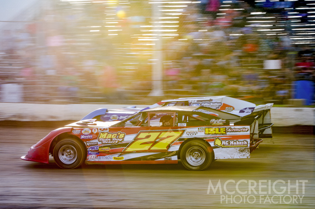 Jared Zimpel and  Denis Czech on the frontstretch